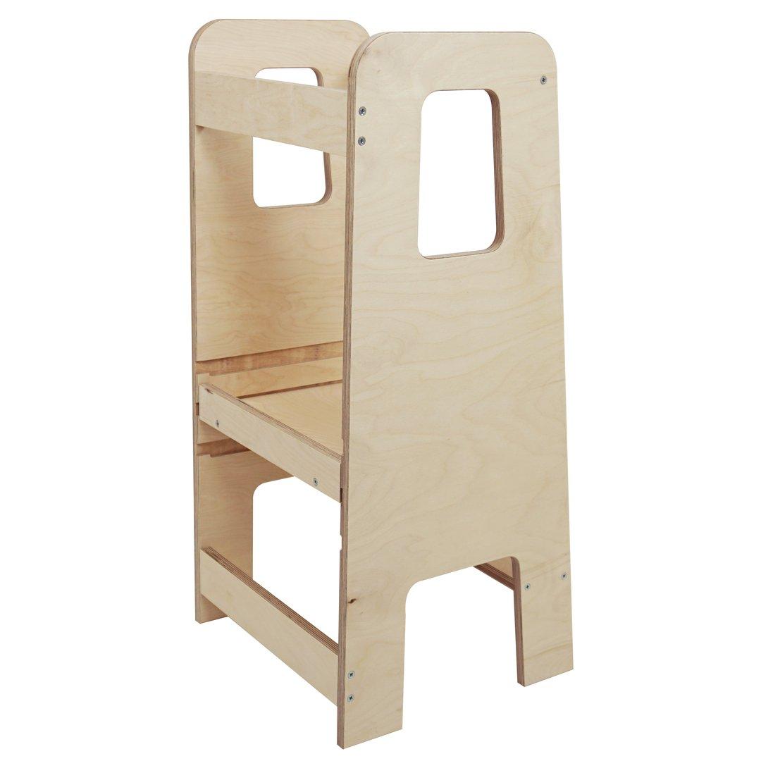 a Forma di Torre Montessori Bianco Sweet Home From Wood Learning Tower Sgabello di Sicurezza per Bambini