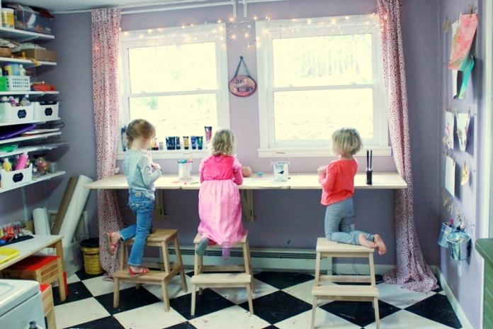 9 idee per realizzare spazi artistici per bambini in casa
