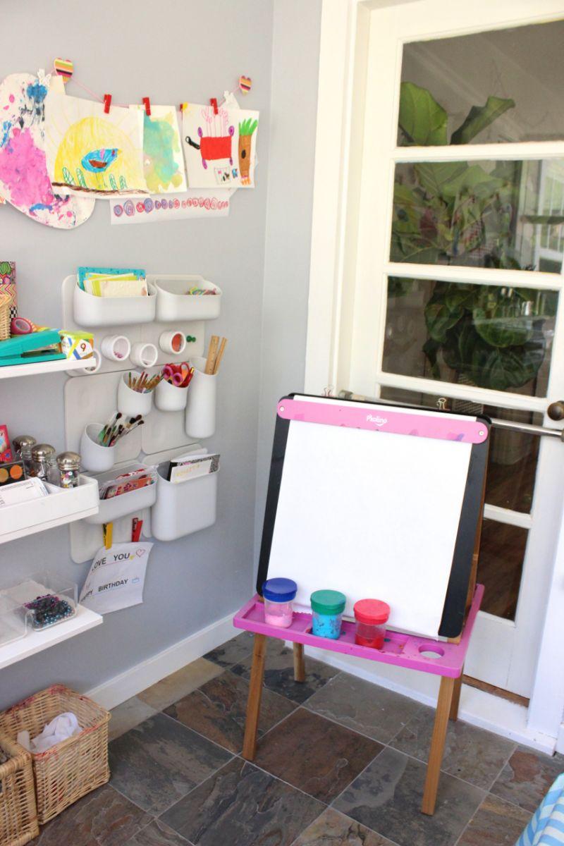 Cavalletti Per Quadri Ikea 9 idee per realizzare spazi artistici per bambini in casa