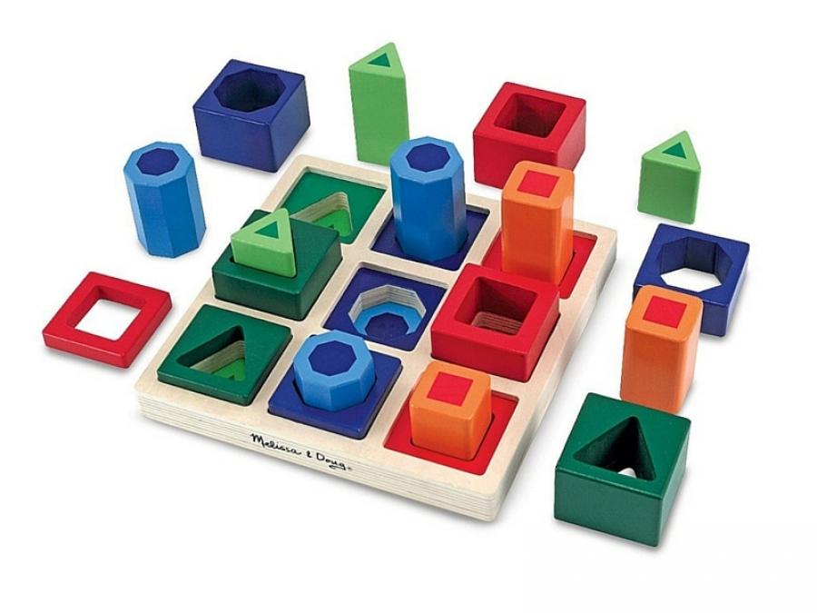 spesso Il gioco delle forme geometriche Montessori JQ18