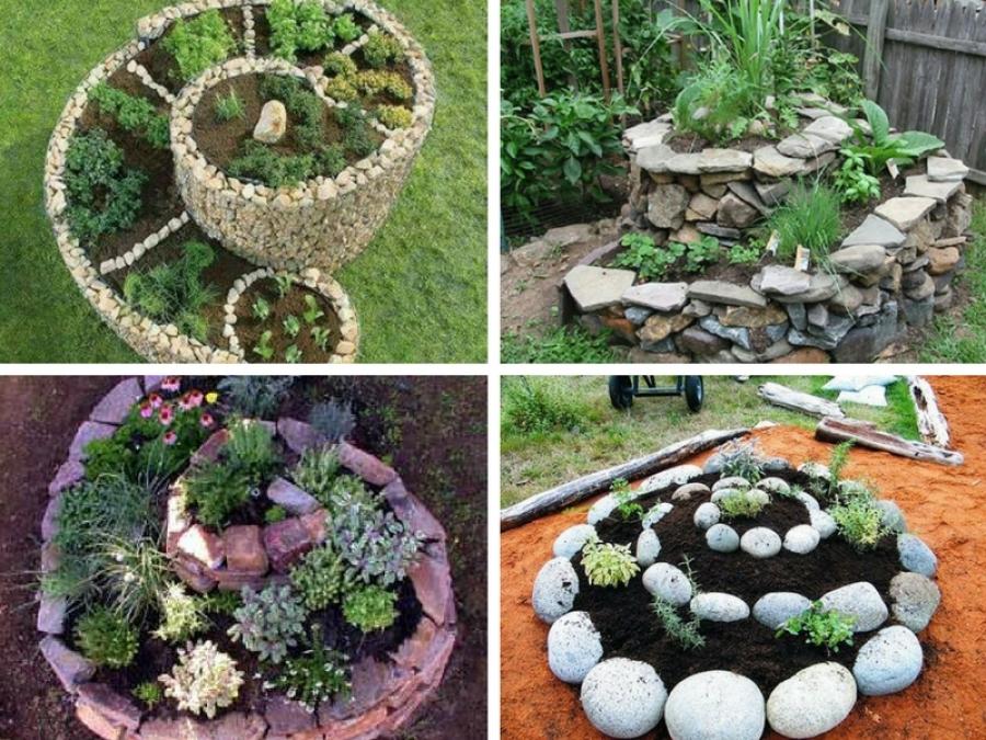 Come costruire la spirale delle erbe aromatiche