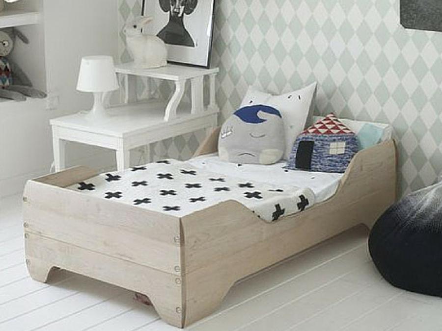 10 idee di camerette in stile scandi e montessori for Ikea lettini bimbi
