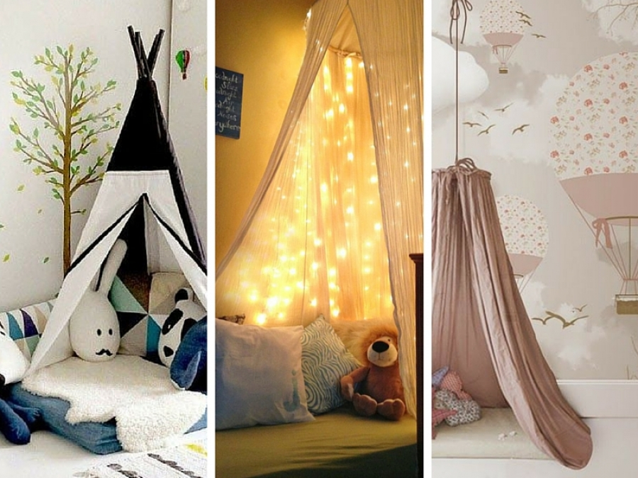 Tende Per Camere Da Letto Per Ragazze : Idee per realizzare tende casalinghe per bambini