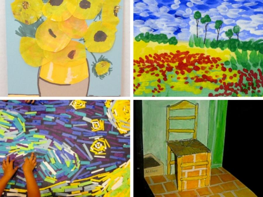 10 idee di gioco ispirate ai quadri di van gogh for Ciao bambini van gogh