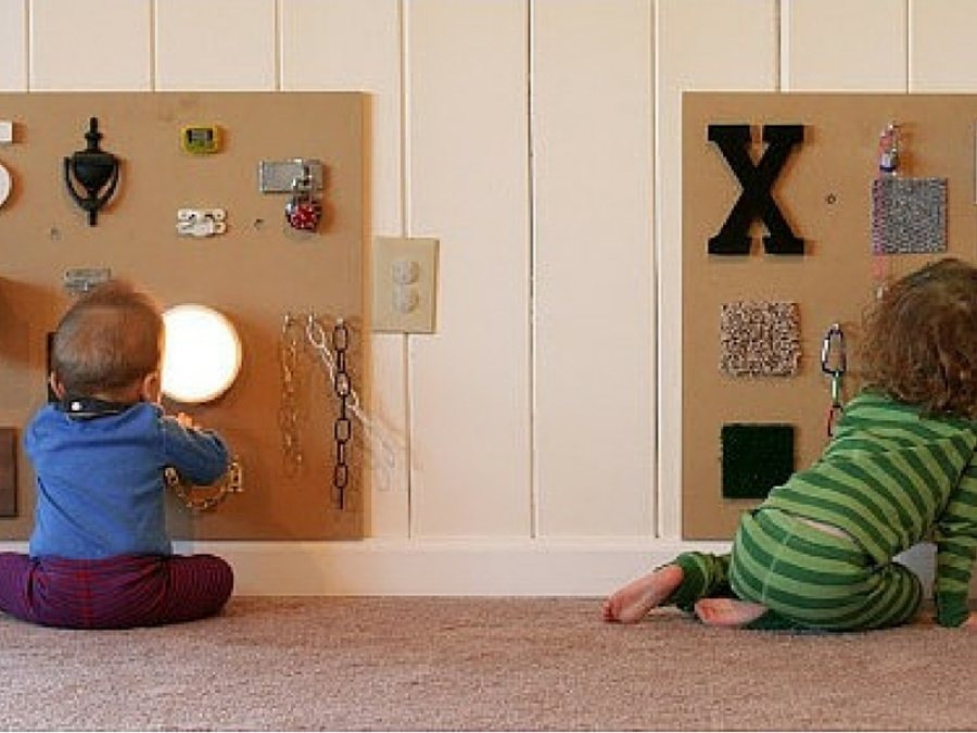 Cameretta Montessoriana Fai Da Te : Le sensory walls montessori